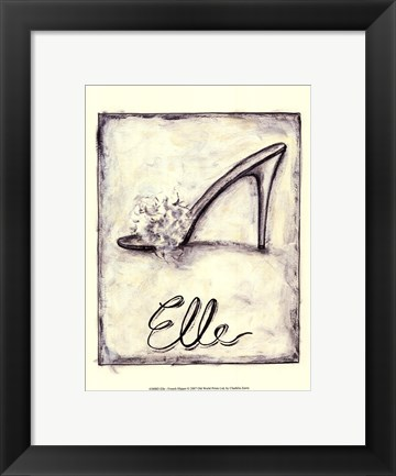 Framed Elle- French Slipper Print
