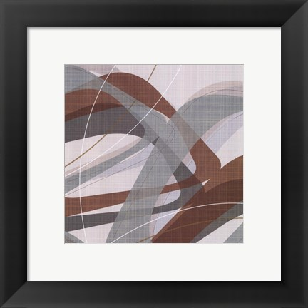 Framed Mint Ripple II Print