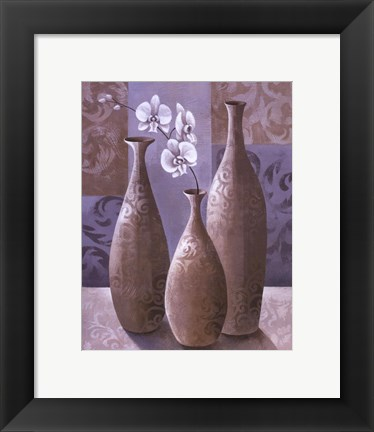 Framed Silver Orchids II Print