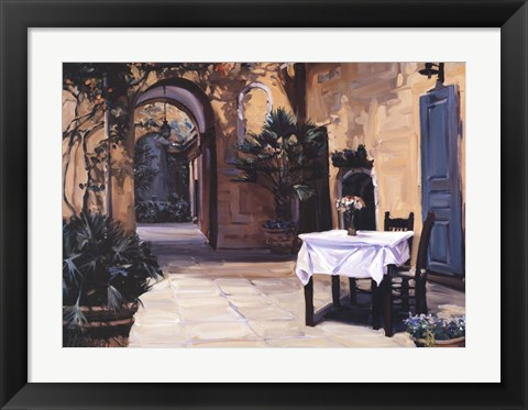 Framed Table for Two Print