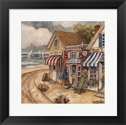 Framed Ocean Village II Print