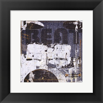 Framed Rock Concert I Print