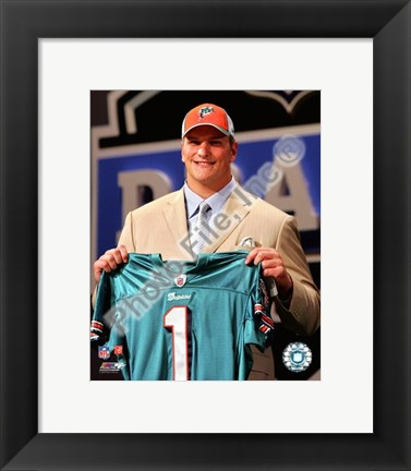 Framed Jake Long 2008 Draft Day - NFL Draft # 1 Pick Print
