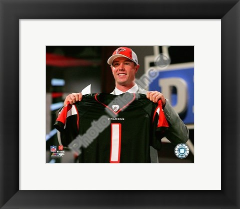 Framed Matt Ryan Draft Day - 2008 NFL Draft # 3 Pick Print