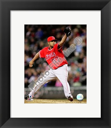 Framed Francisco Rodriguez 2008 Pitching Action Print