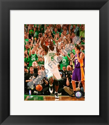 Framed Kevin Garnett, Game Six of the 2008 NBA Finals; Action #26 Print