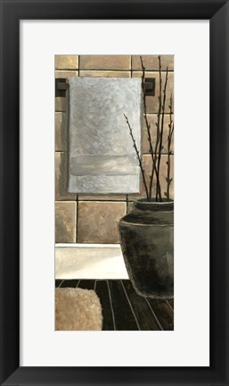Framed Modern Bath Panel II Print