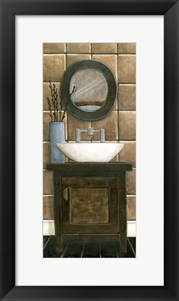 Framed Modern Bath Panel III Print