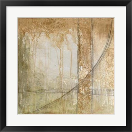 Framed Iron and Lace III Print