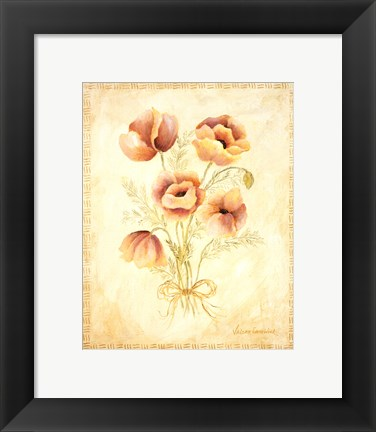 Framed Textured Bouquet III Print