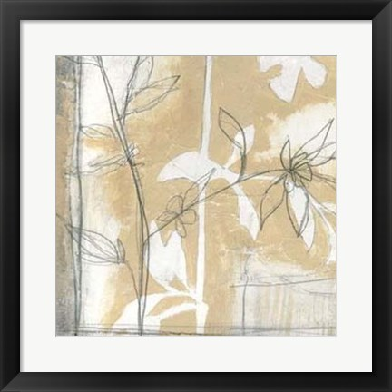 Framed Neutral Garden Abstract IV Print