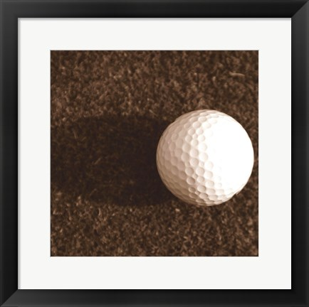 Framed Sepia Golf Ball Study IV Print