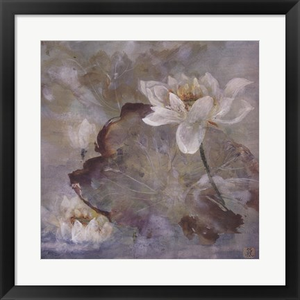 Framed Water Lily II Print