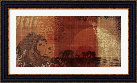Framed Safari Sunset II Print