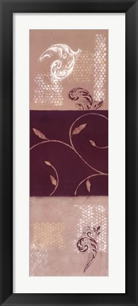 Framed Paisley and Plum II Print