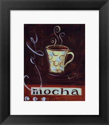 Framed Coffee cafe II Print