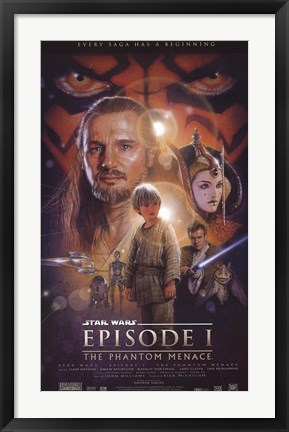 Framed Star Wars - Episode I Print