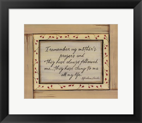 Framed I Remember Print