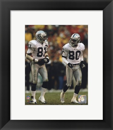 Framed Tim Brown & Jerry Rice Print