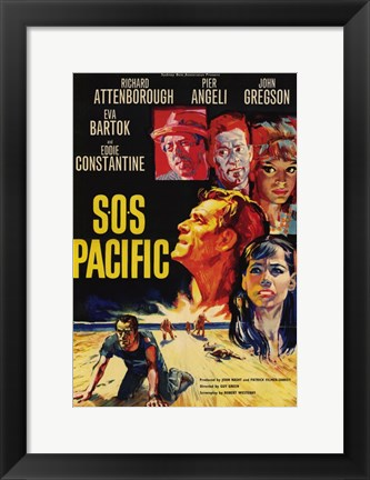 Framed SOS Pacific Print