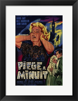Framed Midnight Lace Piege A Minuit French Film Print