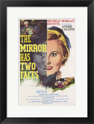 Framed Mirror Has Two Faces Print