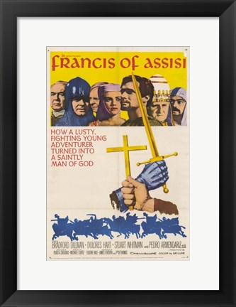 Framed Francis of Assisi Print