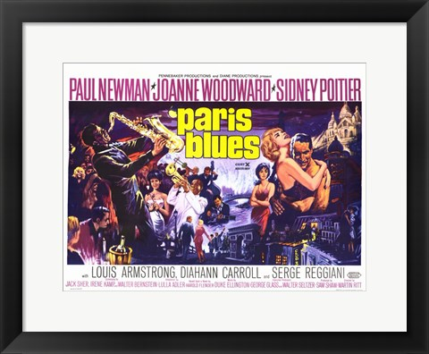 Framed Paris Blues Print
