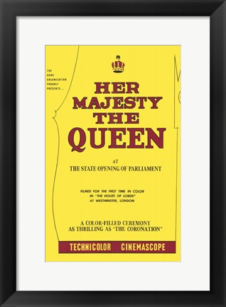 Framed Her Majesty the Queen Print