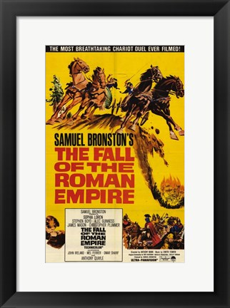 Framed Fall of the Roman Empire Print