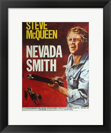Framed Nevada Smith - Man holding a gun Print