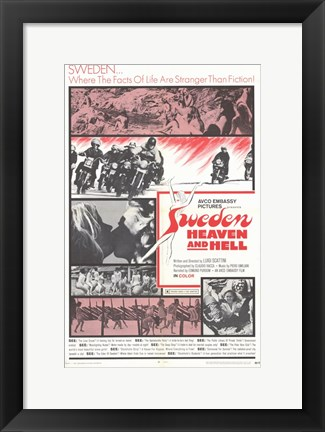 Framed Sweden Heaven and Hell Print