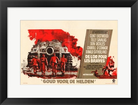 Framed Kelly's Heroes - Dutch Print