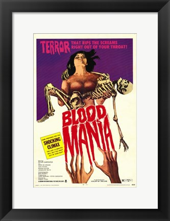 Framed Blood Mania Print