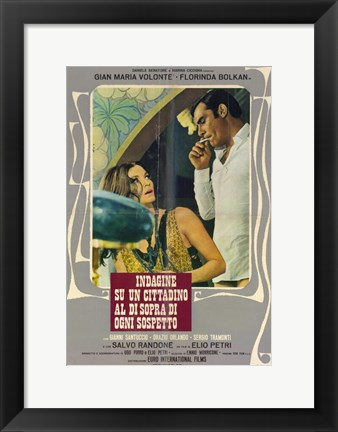 Framed Investigation of a Citizen Above Suspicion - man standing over a woman Print