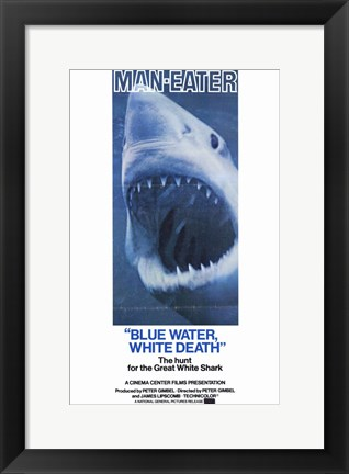 Framed Blue Water White Death Print