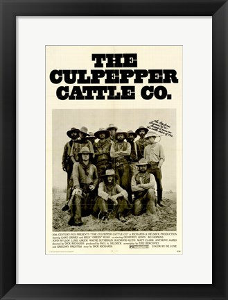 Framed Culpepper Cattle Company Print