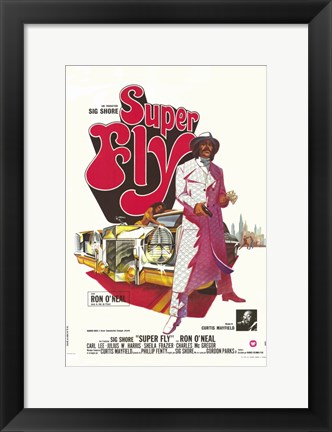 Framed Superfly - red Print