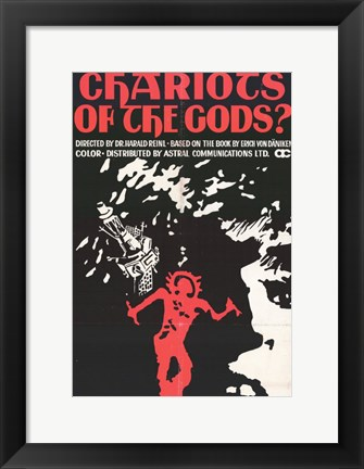 Framed Chariots of the Gods Print