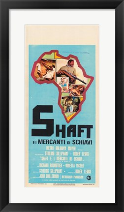 Framed Shaft in Africa Continent Print
