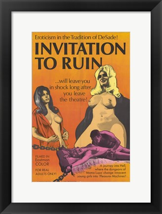 Framed Invitation to Ruin Print