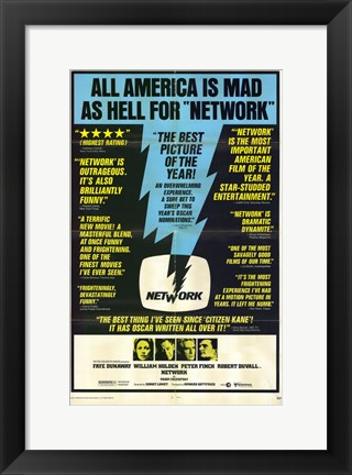 Framed Network All America is Mad Print