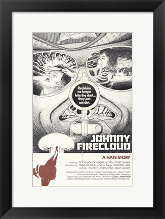 Framed Johnny Firecloud Print