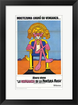 Framed Revenge of The Pink Panther Spanish II Print