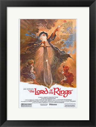Framed Lord of the Rings, animated - style A Print