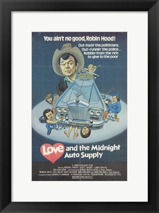 Framed Love and the Midnight Auto Supply Print