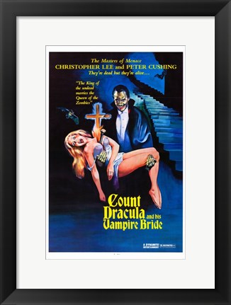 Framed Count Dracula and His Vampire Bride Print