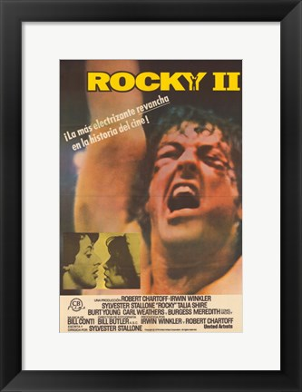 Framed Rocky 2 (spanish) Print