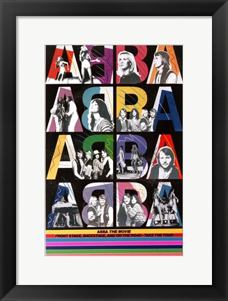 Framed Abba: The Movie - colorful Print