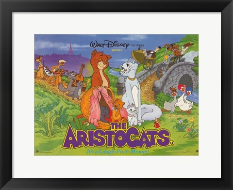 Framed Aristocats Disney Film Print